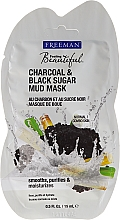 Reinigende Gesichtsschlammmaske mit Aktivkohle und schwarzem Zucker - Freeman Feeling Beautiful Charcoal & Black Sugar Mud Mask (Mini)  — Bild N1
