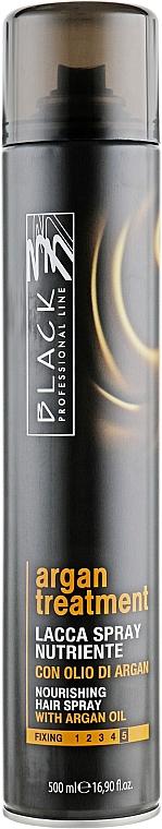 Pflegendes Haarspray mit Arganöl Extra starker Halt - Black Professional Line Argan Treatment Nourishing Hairspray