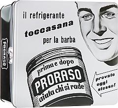 """Düfte, Parfümerie und Kosmetik Set - Proraso Classic Shaving Metal White """"Toccasana"""" (pre/cr/100ml + sh/cr/150ml + a/sh/cr/100ml)"""