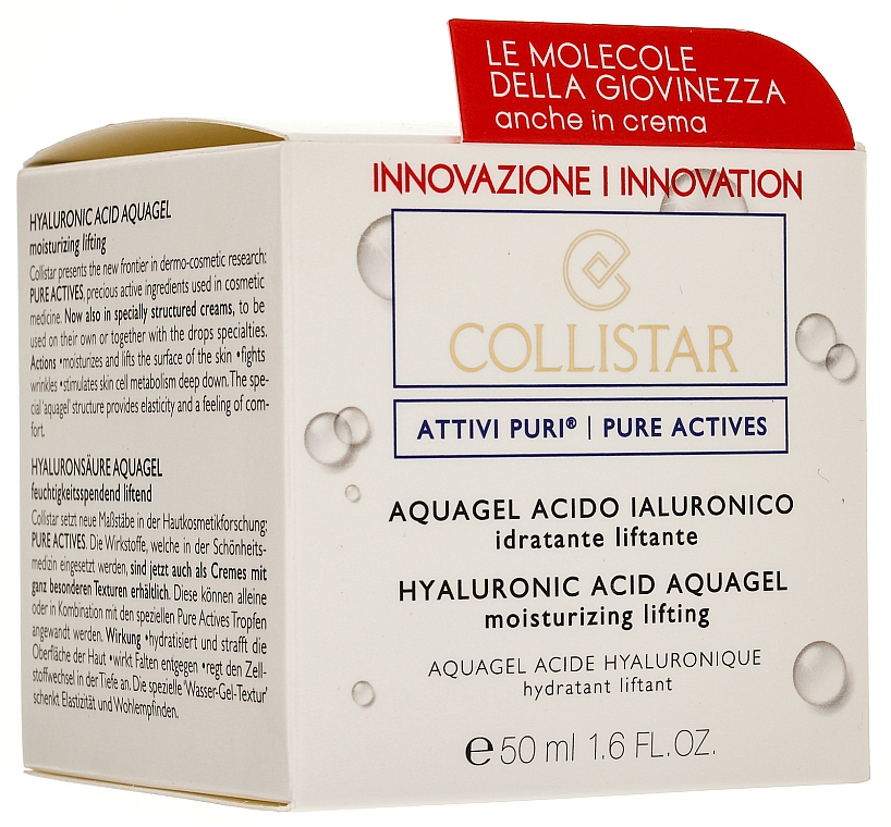 Aqua-Gel für das Gesicht mit Lifting-Effekt und Hyaluronsäure - Collistar Pure Actives Moisturizing Acid Aquagel