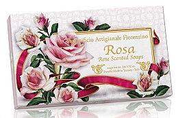 Düfte, Parfümerie und Kosmetik Naturseifenset Rose - Saponificio Artigianale Fiorentino Rosa Scented Soaps (Seife 3St. x100g)