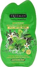 Düfte, Parfümerie und Kosmetik Peel-Off Gelmaske mit Grünem Tee und Orangenblüte - Freeman Feeling Beautiful Brightening Green Tea+Orange Blossom Peel-Off Gel Mask (Mini)