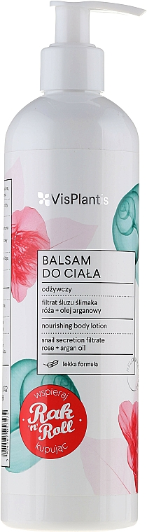 Pflegende Körperlotion mit Schneckenschleim-Extrakt und Damaszener Rosenöl - Vis Plantis Helix Vital Care Nourishing Body Lotion