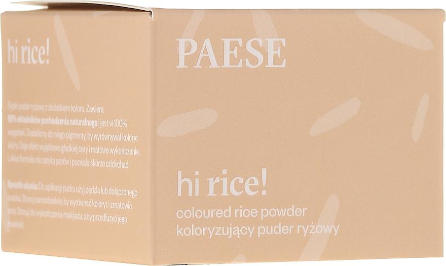 Loser Reispuder für das Gesicht - Paese Hi Rice Coloured Rice Powder — Bild N1
