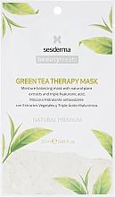 Düfte, Parfümerie und Kosmetik Feuchtigkeitsspendende Gesichtsmaske mit grünem Tee - SesDerma Laboratories Beauty Treats Green Tea Therapy Mask