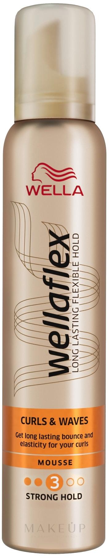 Schaumfestiger für Locken und Wellen, starker Halt - Wella Pro Wellaflex — Bild 200 ml