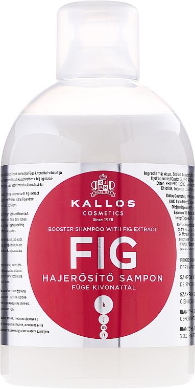 Feige Shampoo zur Verstärkung der Haare - Kallos Cosmetics FIG Booster Shampoo With Fig Extract