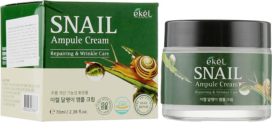 Regenerierende Anti-Falten Gesichtscreme mit Schneckenschleimfiltrat - Ekel Snail Ampule Cream