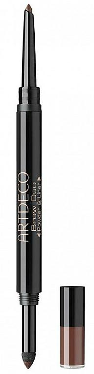 2in1 Wasserfester Augenbrauenpuder und -stift - Artdeco Brow Duo Powder & Liner
