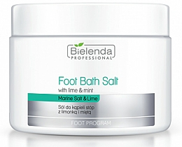 Düfte, Parfümerie und Kosmetik Fußbadesalz aus dem Toten Meer mit Limette und Minze - Bielenda Foot Bath Salt with Lime & Mint