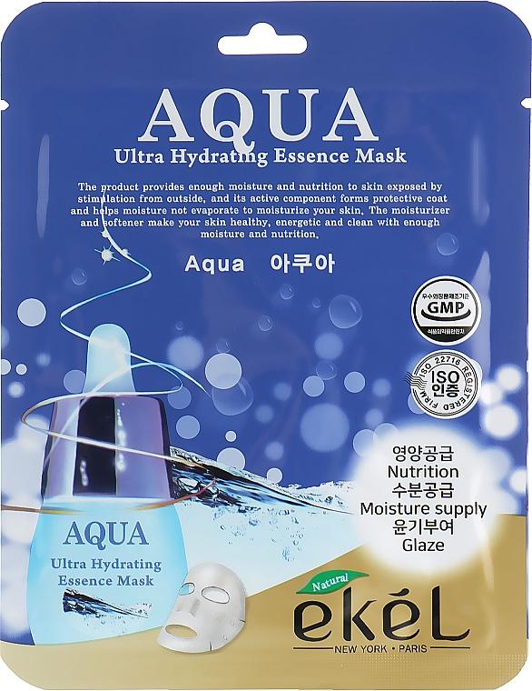 Intensiv feuchtigkeitsspendende und nährende Tuchmaske für das Gesicht mit hydrolysiertem Kollagen - Ekel Aqua Ultra Hydrating Essence Mask