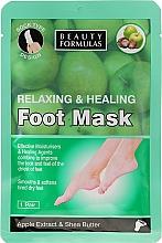 Düfte, Parfümerie und Kosmetik Entspannende und heilende Fußmaske mit Apfelextrakt und Sheabutter - Beauty Formulas Relaxing And Healing Foot Mask