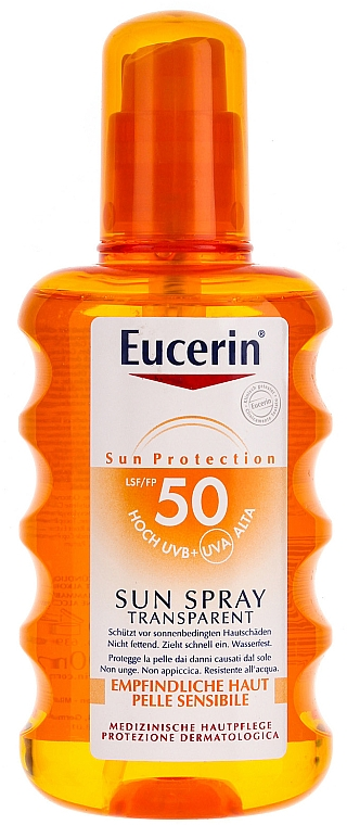 Sonnenschutzspray für den Körper SPF 50 - Eucerin Sun Spray Transparent SPF 50