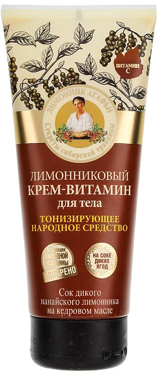 Straffende Körpercreme mit Zitronengras - Rezepte der Oma Agafja