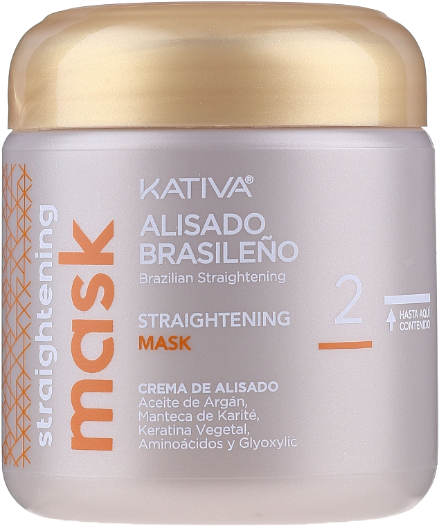 Haarpflegeset mit Keratin - Kativa Alisado Brasileno Con Glyoxylic & Keratina Vegetal Kit (Pre-Behandlung Shampoo 15ml + Behandlung zur Haarglättung 150ml + Shampoo 30ml + Conditioner 30ml + Pinsel 1St. + Handschuhe) — Bild N7