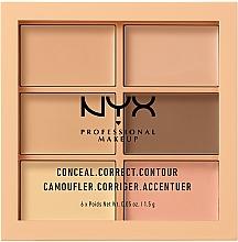 Düfte, Parfümerie und Kosmetik Highlighter Gesichtspalette - Nyx Palette Conceal Correct Contour