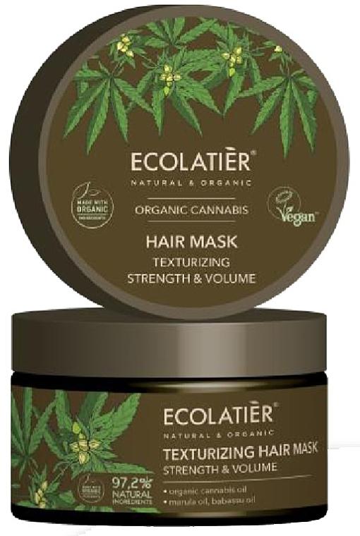 Stärkende und texturierende Haarmaske - Ecolatier Organic Cannabis Hair Mask