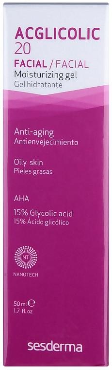 Anti-Aging Creme Gel für von Mischhaut - SesDerma Laboratories Acglicolic 20 Moisturizing Cream Gel — Bild N1