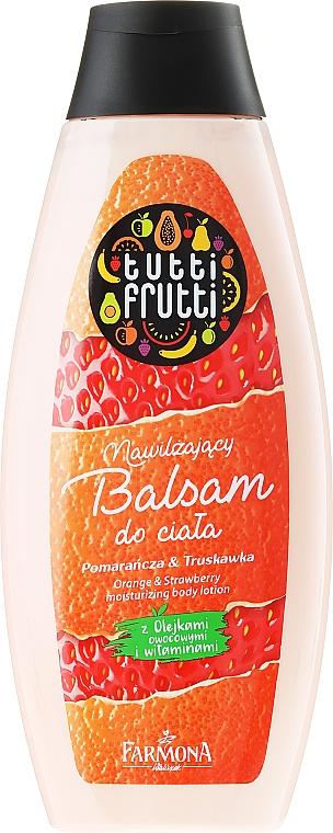 Feuchtigkeitsspendende Körperlotion mit Orange und Erdbeere - Farmona Tutti Frutti Body Lotion