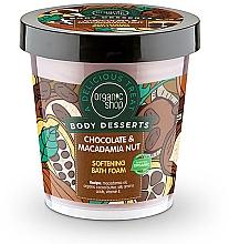 Düfte, Parfümerie und Kosmetik Badeschaum mit Macadamiaöl und Bio Kakaobutter - Organic Shop Body Desserts Chocolate & Macadamia Nut