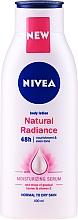 Feuchtigkeitsspendende Körperlotion für normale bis trockene Haut mit Vitamin E - Nivea Natural Radiance Body Lotion — Bild N1