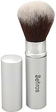 Düfte, Parfümerie und Kosmetik Make-up Pinsel - Sefiros Silver Retractable Brush