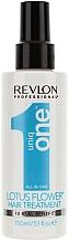 Düfte, Parfümerie und Kosmetik 10in1 Aufbauender Haarspray mit Lotusduft - Uniqone All in one Hair Treatment Lotus Flower 10 Real Benefits