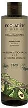 Düfte, Parfümerie und Kosmetik 2in1 Nährendes und stärkendes Shampoo und Haarspülung mit Avocadoöl und Phospholipiden - Ecolatier Organic Avocado Hair-Shampoo Balm