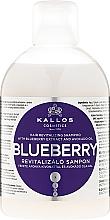 Düfte, Parfümerie und Kosmetik Himbeere Revitalisierendes Shampo für trockenes und strapaziertes Haar - Kallos Cosmetics Blueberry Hair Shampoo