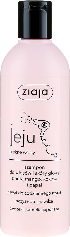 Feuchtigkeitsspendendes Shampoo mit Mango, Papaya und Kokosnuss - Ziaja Jeju