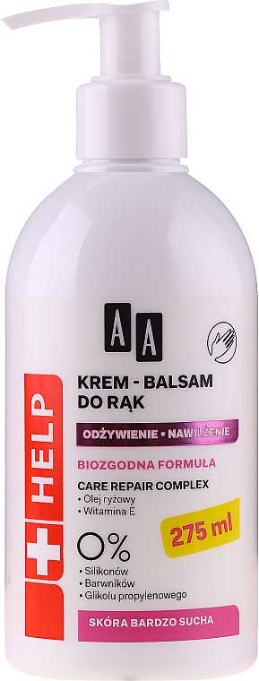 Handcreme-Balsam für trockene Haut - AA Help Hand Cream-Balm