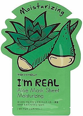 Aktive Feuchtigkeisspendende Gesichtsmaske - Tony Moly I'm Real Aloe