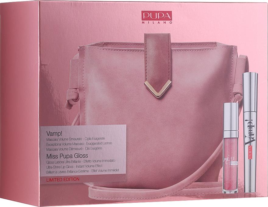 Make-up Set (Mascara 9ml + Lipgloss 5ml + Kosmetiktasche) - Pupa Limited Edition