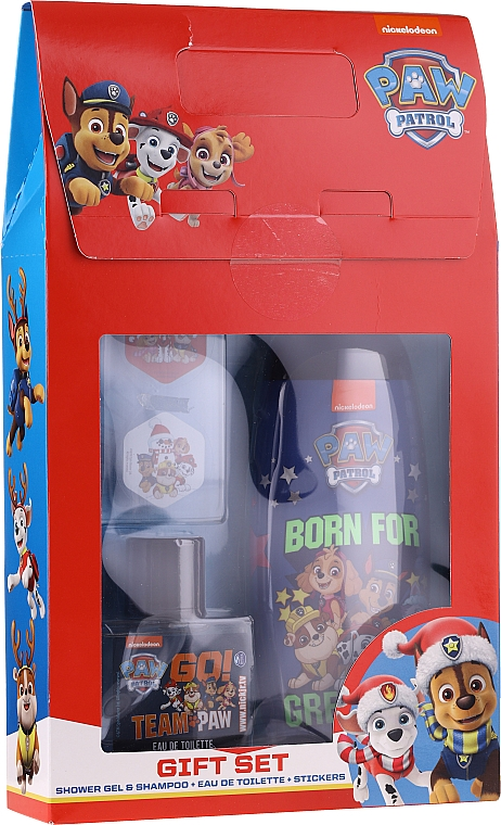 Duftset für Kinder - Uroda For Kids Paw Patrol Red (Duschgel 250ml + Eau de Toilette 50ml + Aufkleber)