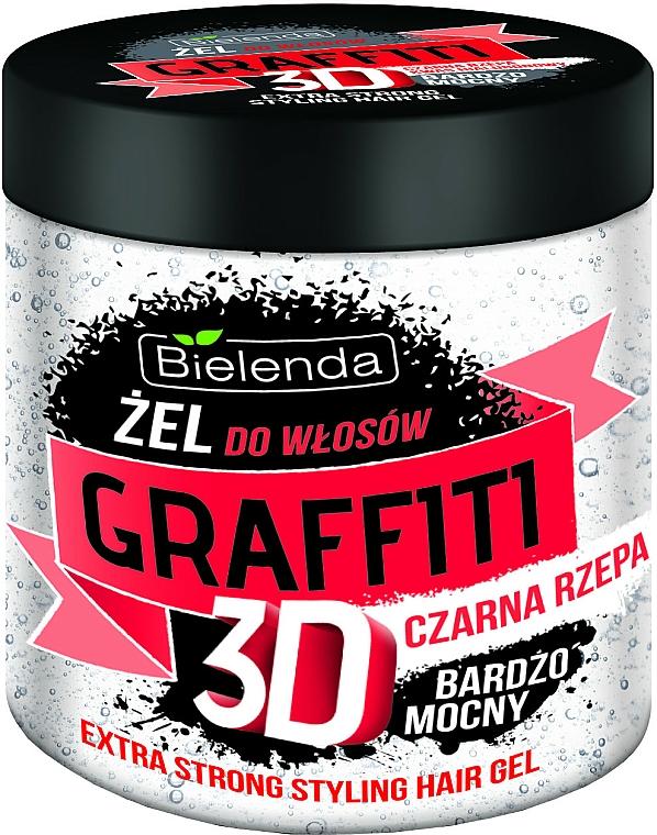Haargel mit schwarzer Rübe Extra starker Halt - Bielenda GRAFFITI 3D Extra Strong Stayling Hair Gel