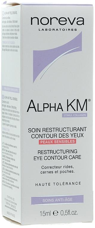 Restrukturierende Augenkonturcreme - Noreva Laboratoires Alpha KM Restructuring Treatment Eye Contour