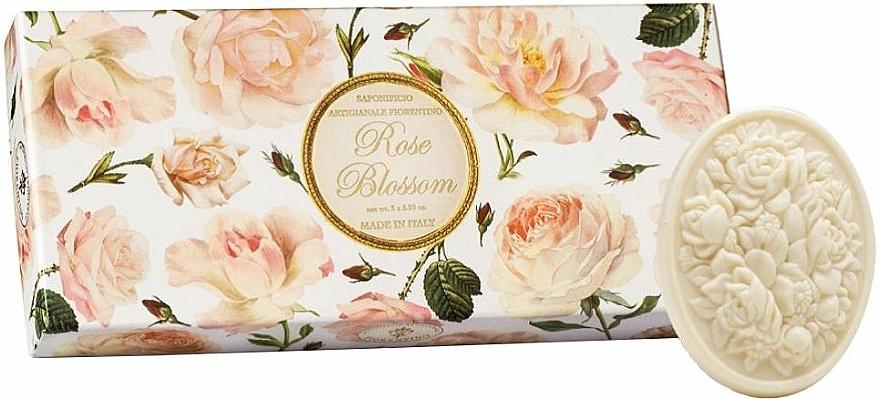"""Seifen-Set """"Rose"""" 3 St. - Saponificio Artigianale Fiorentino Rose Blossom (Soap/3x125g)"""