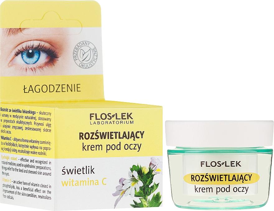 Aufhellende Augencreme mit Augentrost und Vitamin C - Floslek