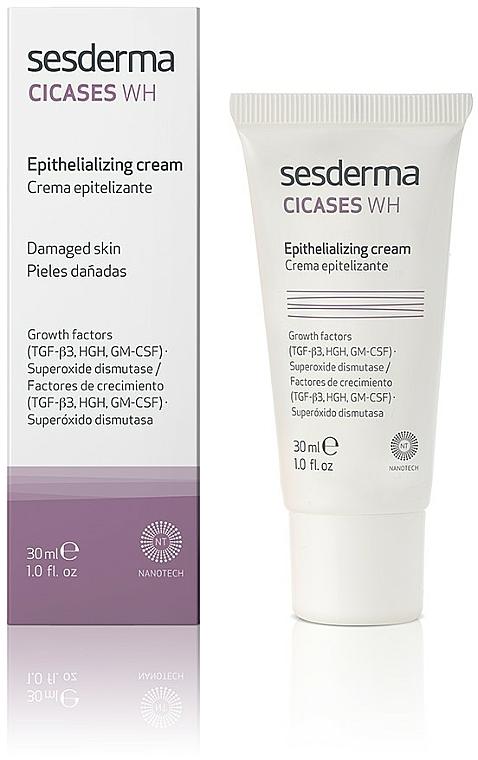 Epithelisierende Körpercreme für Verbrennungen, Geschwüre und Narben - SesDerma Laboratories Cicases Wh Cream — Bild N1