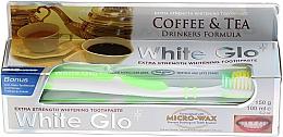 Düfte, Parfümerie und Kosmetik Zahnpflegeset für Kaffee- und Teetrinker - White Glo Coffee & Tea Drinkers Formula Whitening Toothpaste (Zahnpasta 100ml + Zahnbürste grün)