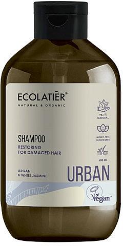Regenerierendes Shampoo mit Argan und weißem Jasmin für strapaziertes Haar - Ecolatier Urban Restoring Shampoo