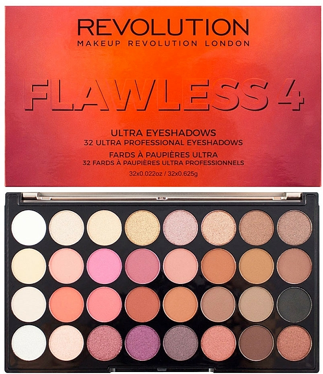 Lidschattenpalette - Makeup Revolution Ultra 32 Shade Palette Flawless 4