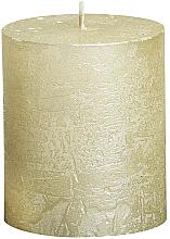 Düfte, Parfümerie und Kosmetik Dekorative Kerze in Zylinderform Metallic Ivory 80/68 mm - Bolsius Candle