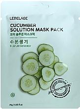 Düfte, Parfümerie und Kosmetik Feuchtigkeitsspendende Tuchmaske für das Gesicht mit Gurke - Lebelage Cucumber Solution Mask