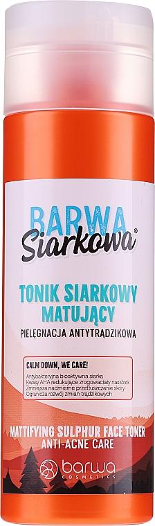 Antibakterielles Anti-Akne Gesichtstonikum - Barwa Anti-Acne Sulfuric Tonik