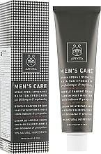 Düfte, Parfümerie und Kosmetik Rasiercreme mit Johanniskraut und Propolis - Apivita Men Men's Care Gentle Shaving Cream With Hypericum & Propolis