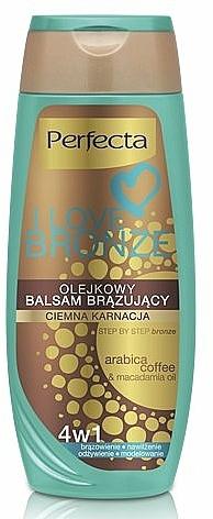 Bronsierende Körperlotion für dunkle Haut - Perfecta I Love Bronze Balm — Bild N1