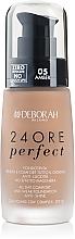 Düfte, Parfümerie und Kosmetik Langanhaltende Foundation mit Anti-Glanz-Effekt und LSF 10 - Deborah 24Ore Perfect Foundation