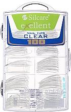 Düfte, Parfümerie und Kosmetik Nageltips transparent d/k - Silcare Tipsy Exellent Clear