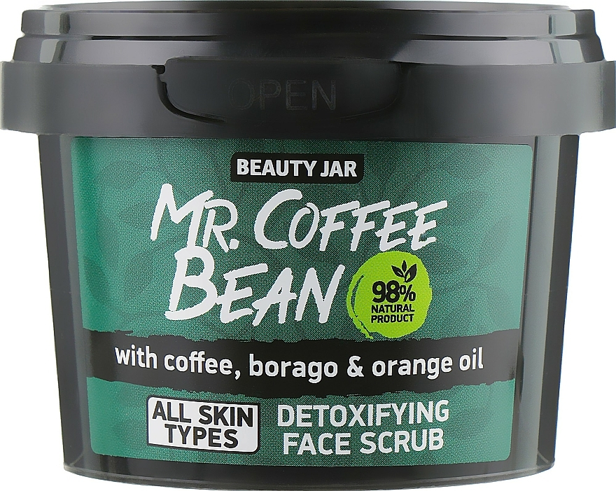 Detox Gesichtspeeling mit Kaffee, Borretsch und Orangeöl - Beauty Jar Detoxifying Face Scrub — Bild N2